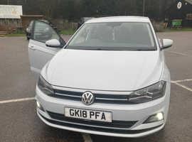 Volkswagen Polo, 2018 (18) Silver Hatchback, Manual Petrol, 54,000 miles