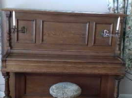 Carl Mand Solid Oak Piano 1885