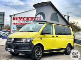 2019/19 VW Transporter 2.0 TDi T28 SWB Blue-Motion Tech Startline Camper Conversion in Grape Yellow. NO VAT.