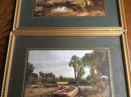 Vintage framed prints x 5