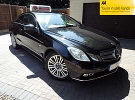 Mercedes E Class E250 CDI COUPE, 2009 (59) Black Coupe, Automatic Diesel, 69,990 miles