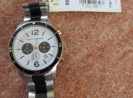 Brand new RJR.John Rocha Designer men's stainless steel chronograph watch