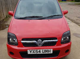 Vauxhall Agila, 2004 (54) Red MPV, Manual Petrol, 81,000 miles