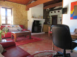 SW FRANCE.  Lovely 2 bed, 2 bath stone cottage + 1/4 acre
