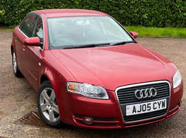 ****Audi A4, 2005 (05) Red Saloon, Manual Petrol, 38,005 miles