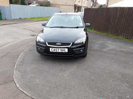 Ford Focus, 2008 (57) Black Hatchback, Manual Petrol, 74,342 miles