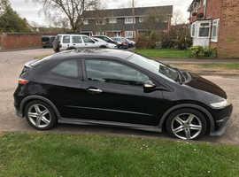 Honda Civic, 2009 (58) black hatchback, Manual Petrol, 90,000 miles