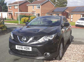 Nissan Qashqai, 2016 (16) Black Hatchback, Manual Diesel, 89,000 miles