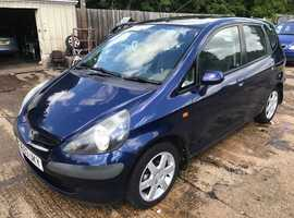 Honda Jazz, 2003 (53) Blue Hatchback, Manual Petrol, 142,000 miles, Full MOT Supplied