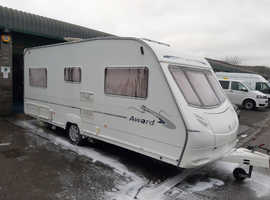 Ace Award 4 berth fixed double bed come's with motor mover
