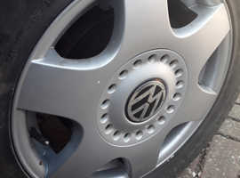 VW Beetle Alloys x4 With Good Tyres