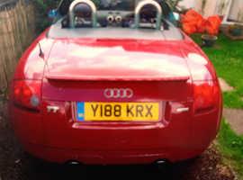 Audi TT, 2001 (Y) red sports, Manual Petrol, 105307 miles