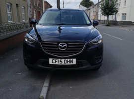 Mazda CX-5, 2015 (15) Blue Estate, Automatic Diesel, 81,000 miles