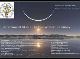 Open Masonic Ceremony