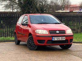 Fiat Punto, 2005 (05) Red Hatchback, Manual Petrol, 77,296 miles, LONG MOT, SOLD AS REPAIR NEEDED