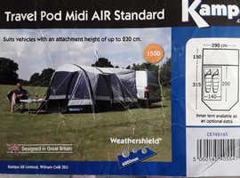 Kampa travel pod midi air standard awning.
