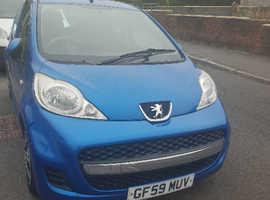 Peugeot 107, 2009 (59) Blue Hatchback, Semi auto Petrol, 46,000 miles