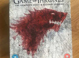 Game of thrones season 1 and 2 boxset - blu ray - excellent condition
