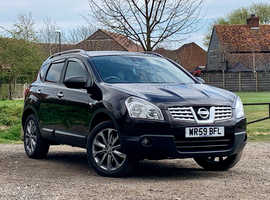 Nissan Qashqai, 2009 (59) Black Hatchback, Manual Diesel, 105,100 miles