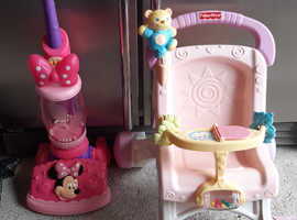 Minnie mouse hoover / Fisher price first pushchair