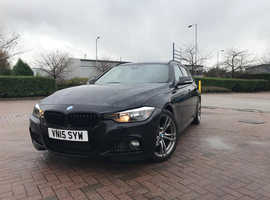 BMW 3 Series, 2015 (15) Black Estate, Manual Diesel, 73,000 miles