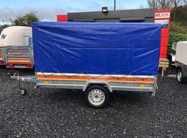 8.7x4.2 single axle trailer 27cm board frame and cover 110cm