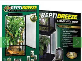 Zoo med reptibreeze cage x-large with stand and substrate tray
