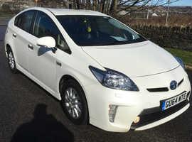 Toyota Prius, 2014 (64) white hatchback, Cvt Hybrid, 75000 miles