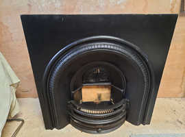 Reclaimed cast Iron Victorian style fireplace .
