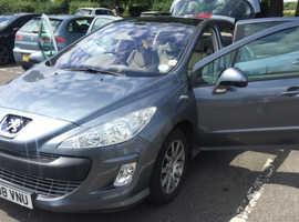 Peugeot 308, 2008 (08) Grey, Panoramic Roof!!!  Automatic Petrol, 45,000 miles