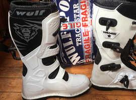 Motocross wulf racing boots