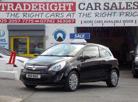 2011/11 Vauxhall Corsa 1.2 Excite finished in Phantom Black Metallic., 93,360 miles