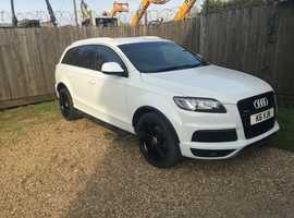 Audi Q7, 2013 (62) White Estate, Automatic Diesel, 32,666 miles