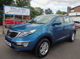 Kia Sportage, 2011 (11) Blue Estate, Manual Petrol, 84,000 miles