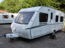 Abbey Expression Michael Jordan Special Edition 540 2007 4 Berth Fixed Bed Caravan + Motor Movers + Full Awning
