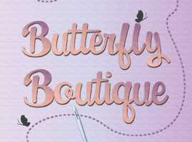 Butterfly Boutique for all your clothing alterations, repairs and sewing needs!!