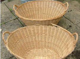 Laundry Baskets (Two wickerwork, One plastic)
