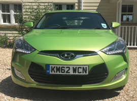 Hyundai Veloster, 2012 (62) Green Coupe, Manual Petrol, 62,000 miles