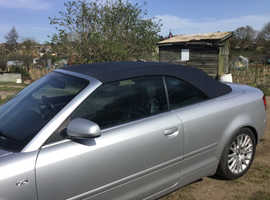 Audi A4, 2006 (06) Silver Convertible, Manual Diesel, 156,771 miles