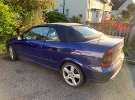 Vauxhall Astra, 2005 (55) Blue Convertible, Manual Petrol, 88,500 miles