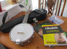 Kmise Banjo Ukelele and accessories