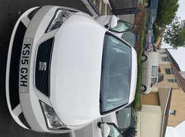 Seat Ibiza, 2015 (15) White Hatchback, Manual Petrol, 42,000 miles