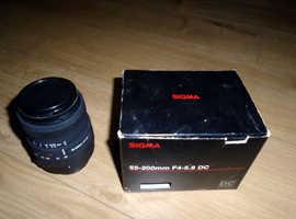 Sigma 55-200mm AF F4-5.6 DC Digital Lens for Nikon D AF Mount
