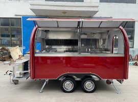 Food truck and mobile kitchen trailer builder catering traler