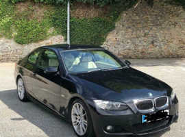 BMW 3 Series, 2007 (57) Black Coupe, Automatic Diesel, 109,000 miles