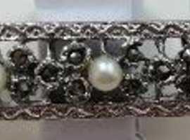 Diamonds and Pearls Broach