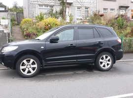 Hyundai Santa Fe, 2007 (07) Black Estate, Manual Diesel, 107,000 miles