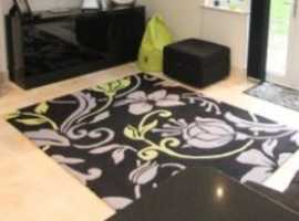Black /Grey/green Rug