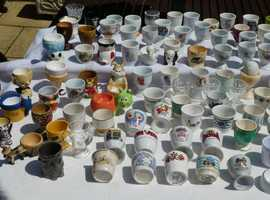 COLLECTION OF EGG CUPS