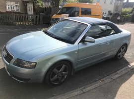 Audi A4, 2004 (54) Blue Convertible, Manual Petrol, 92,000 miles